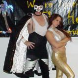 big wrestler man with sexy valets stars