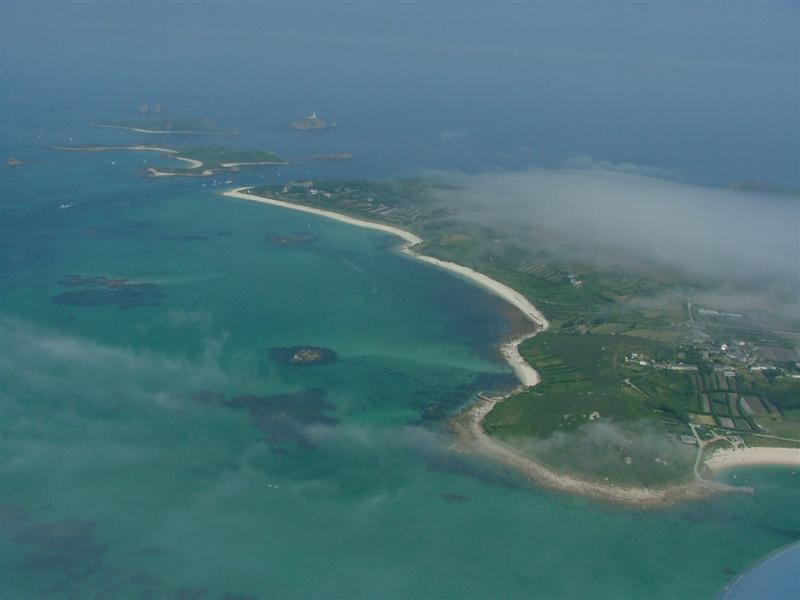 Tresco from the helicopter