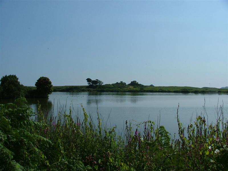 Lake, south end of island
