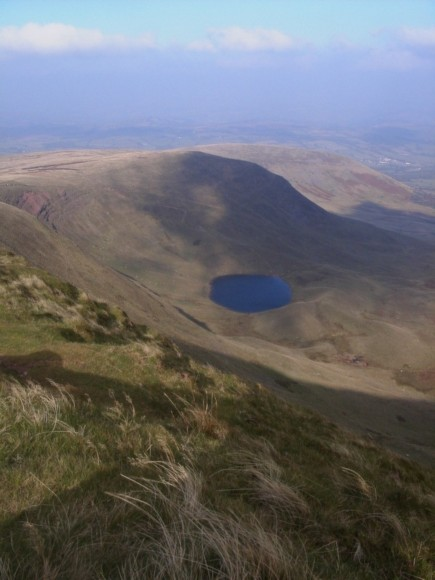 View from summit of Penyfan