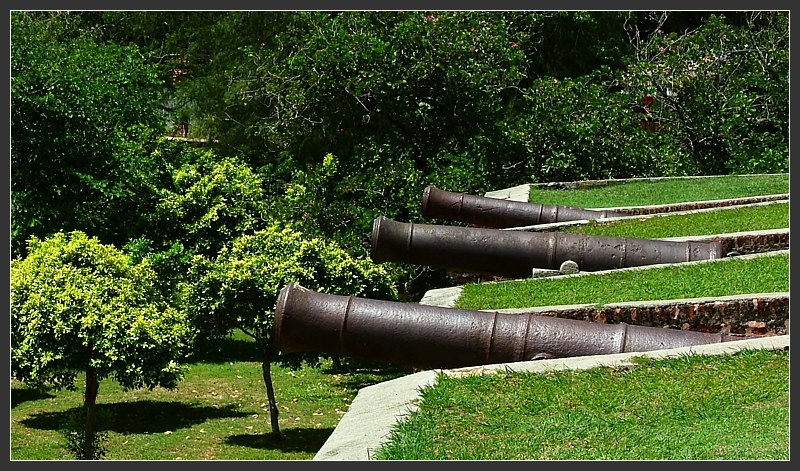 Fort Cornwalls cannons