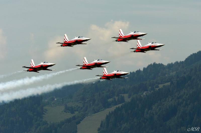 Patrouille Suisse, Switzerland — F-5 Tiger