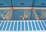 Serbin - balcony rail, ceiling, and column detail