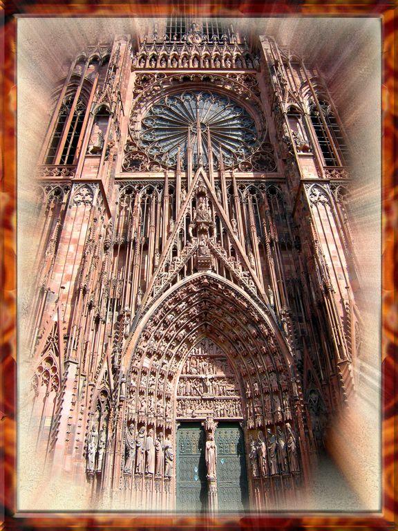 Eternal Wonder of Strasburgs Cathedral, France