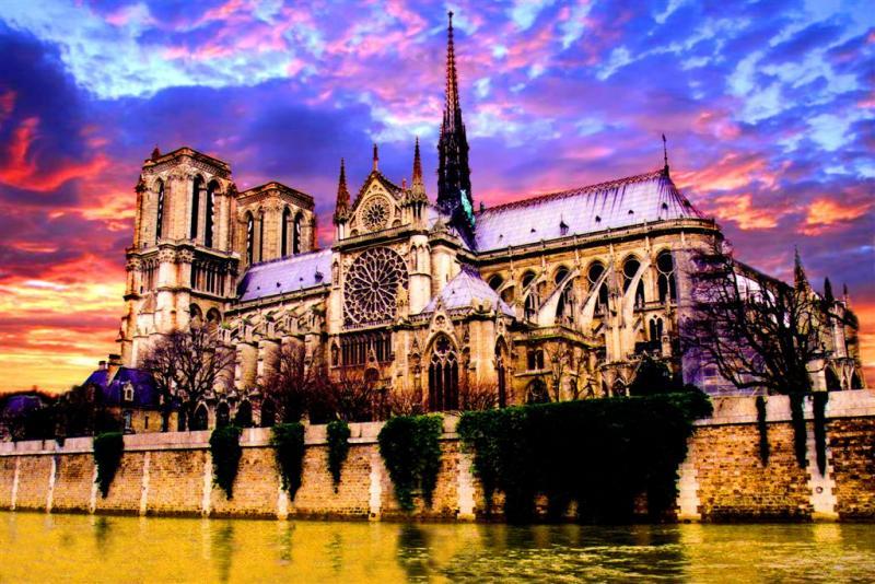 Notre Dame De Paris,- Eternal Beauty in Golden River of Time