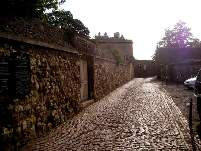 Cobbled stones at Christ Church College