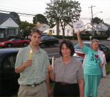 Supporting Cindy Sheehan in Garden City, NY
