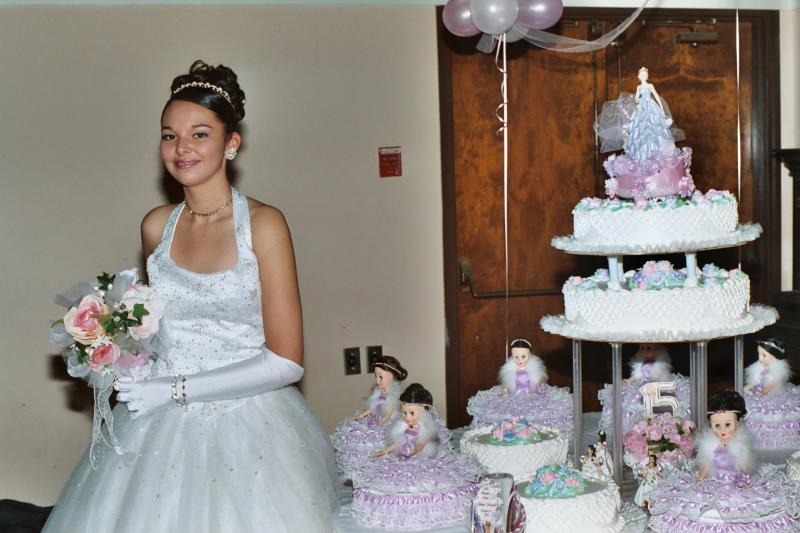 QUINCEANERA GIRL and CAKE ALL EVENTS PHOTOGRAPHY & VIDEO PRODUCTIONS