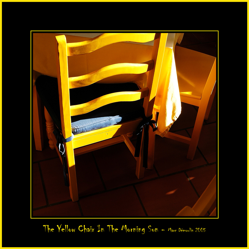 The Yellow  Chair In The Morning Sun