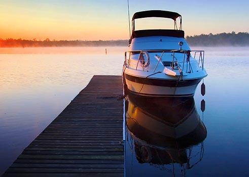 Docked Boat at Dawn 20050620