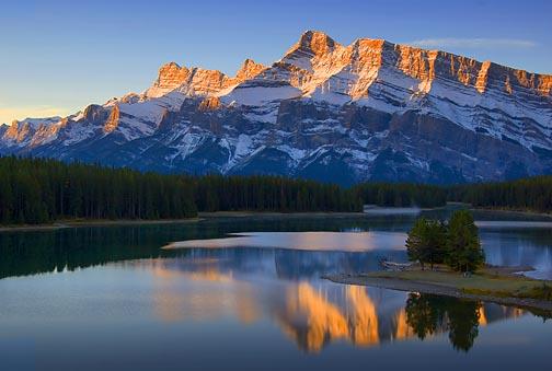 Two Jack Lake at Sunrise 20050924
