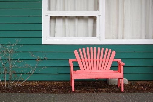 Pink Chair Green Wall 20051104