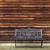 Bench & Log Wall 20051019