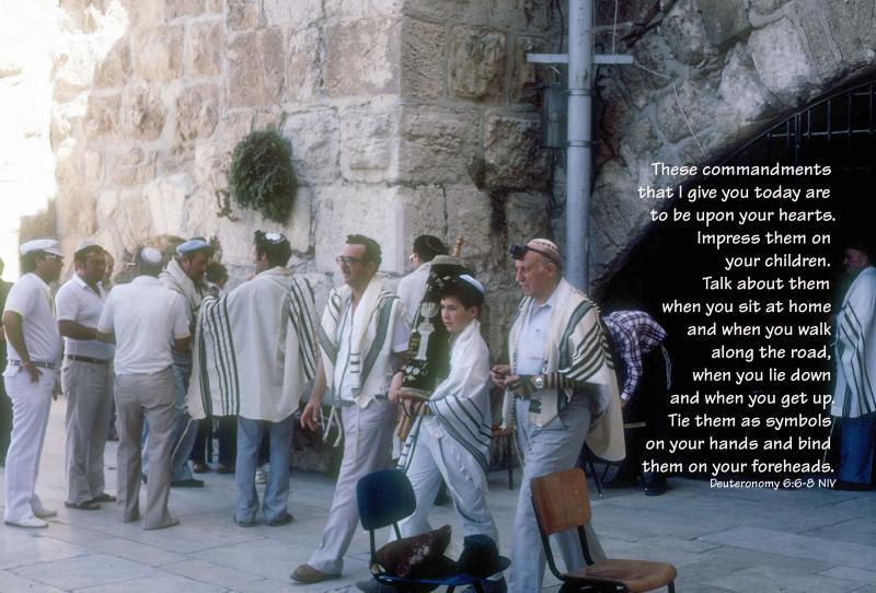Bar Mitzphah at the Temple Wall in Jerusalem - Deuteronomy 6