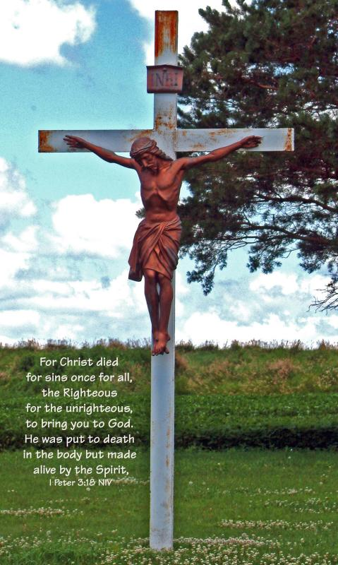Christ Crucified - quotation from I Peter 3:18