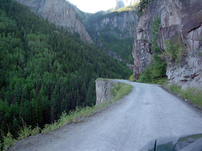 Road to Yankee Boy mine  Ouray, Colorado
