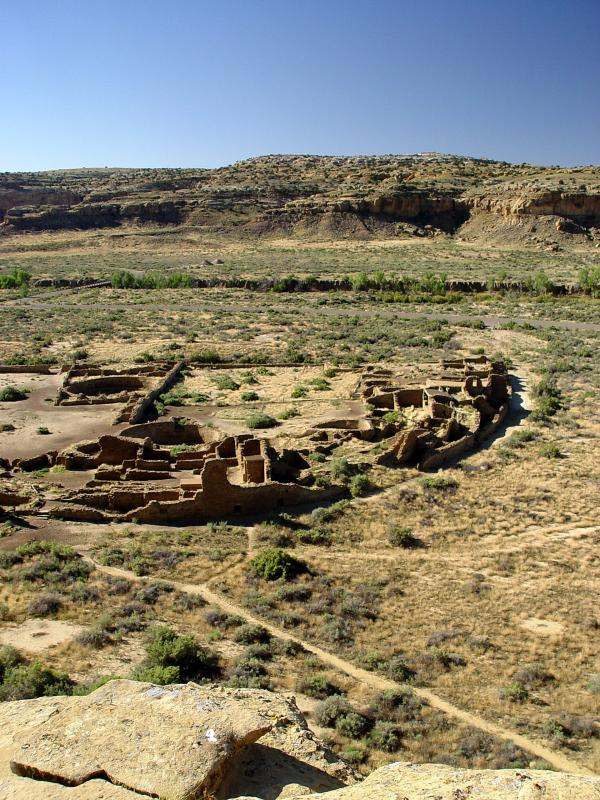 Chaco Canyon   Pueblo Bonito Overlook