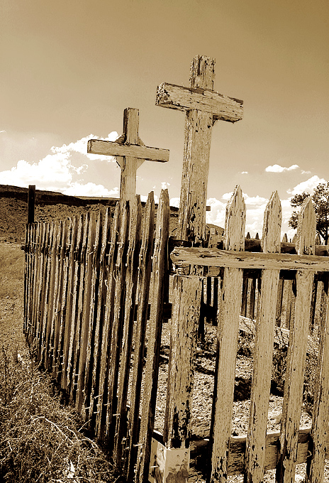 Cemetery in Goldfield, Nevada