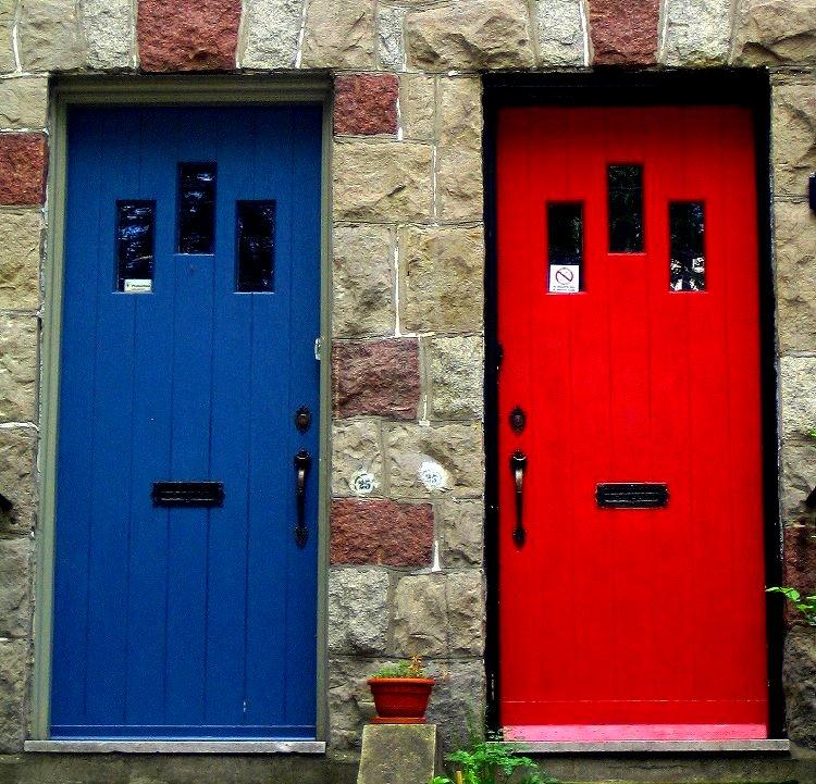Red and Blue Door