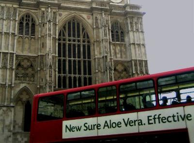 Bus and Westminister Abbey