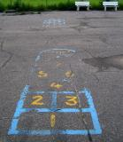 Hop Scotch and Two Benches