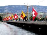 Flags Over Rhone River