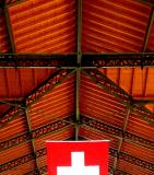 Swiss Flag and Roof