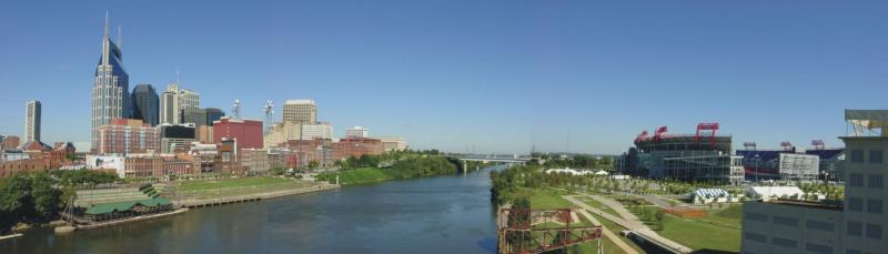 Panorama of Nashville Skyline (click original for full size)