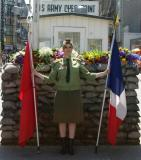 Sowiet soldier at Checkpoint Charlie, Berlin