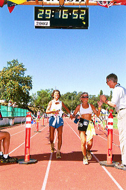 Western States 2002 with pacer Barb Elia