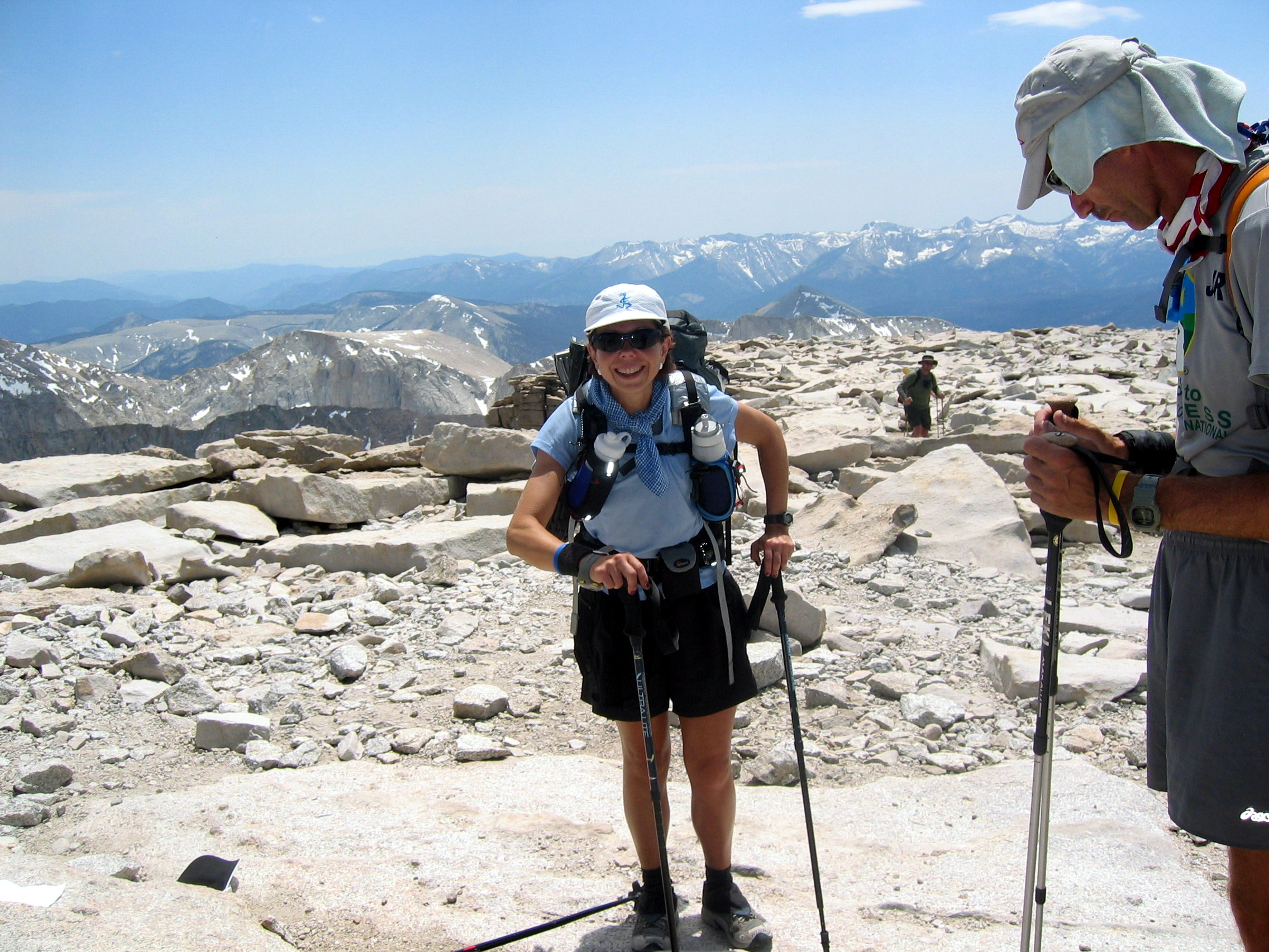 Linda McFadden finished Badwater in 40 hrs, and is heading toward Yosemite with JR after her summit