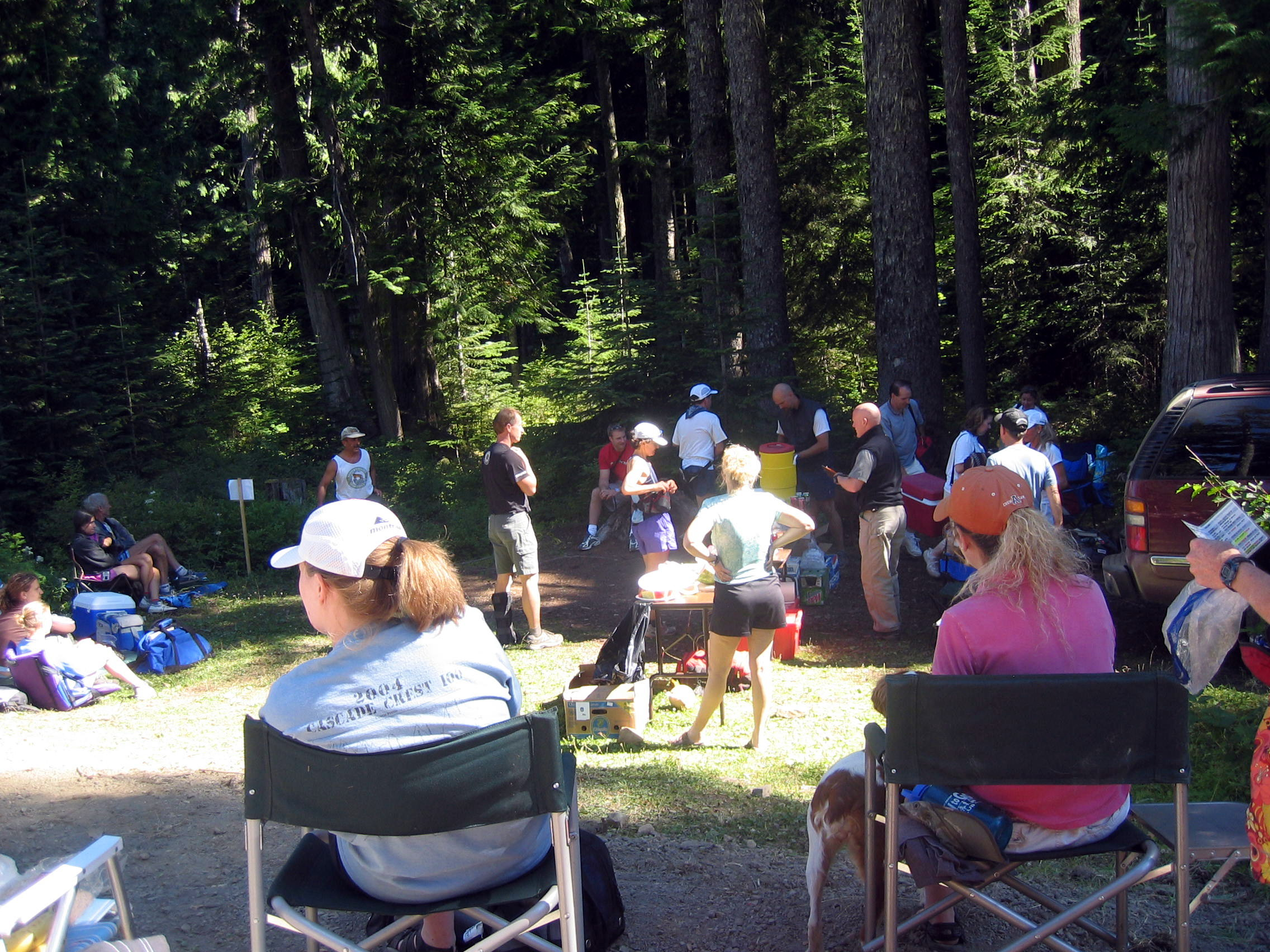 Tacoma Pass Aid Station - mile 24