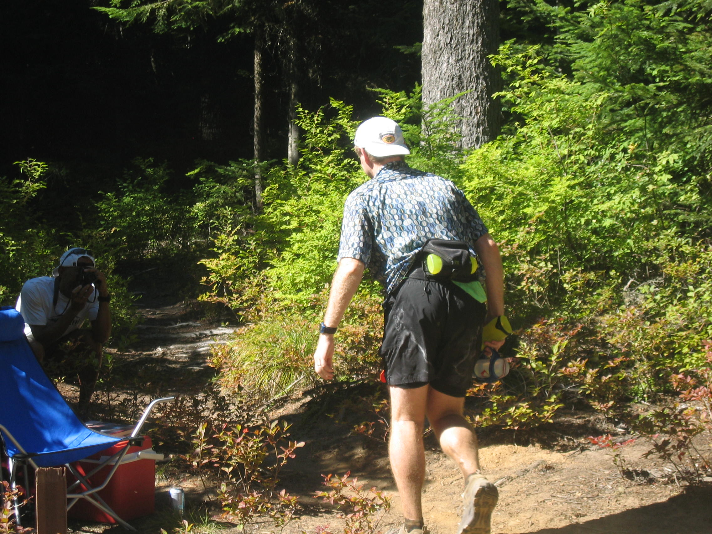 keith goes back into the woods after Tacoma Pass