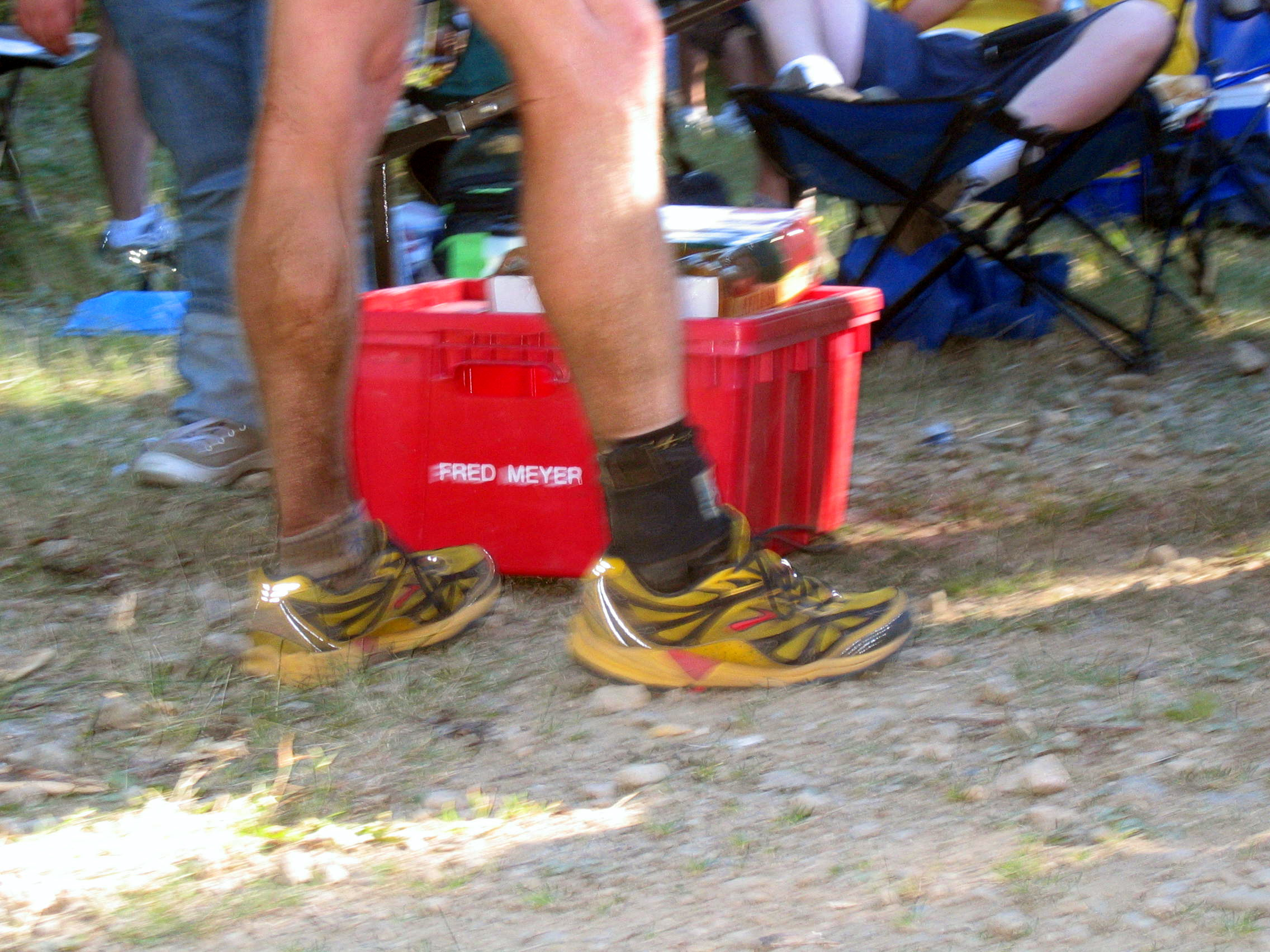 Nice ankle brace.  Can you guess who belongs to it?