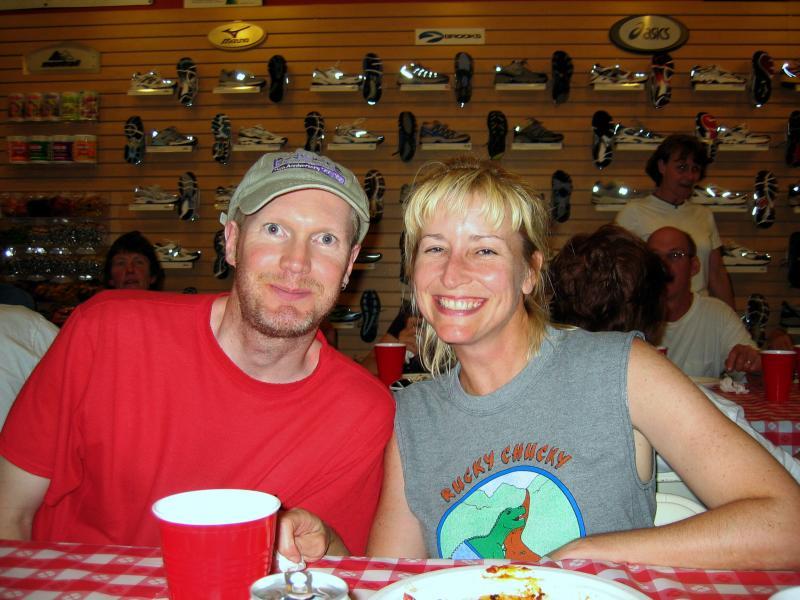 Don & Gillian at the Auburn Running Store pasta dinner Friday night