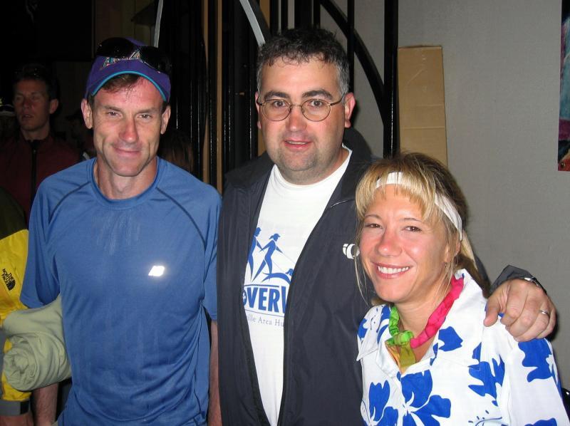 Dave Bursler, Ian Stevens & Lisa race morning