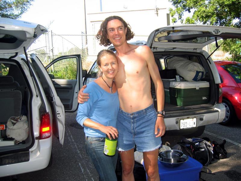 Leah & Scott Jurek, 7 time consecutive winner of the WSER