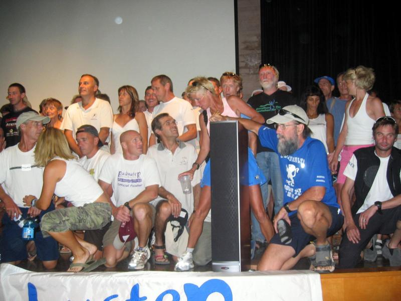 2005 runner line-up:  looks like we  need a bigger stage!