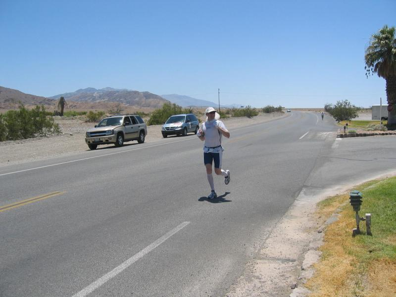 Christopher Berglund comes into Furnace Creek looking strong