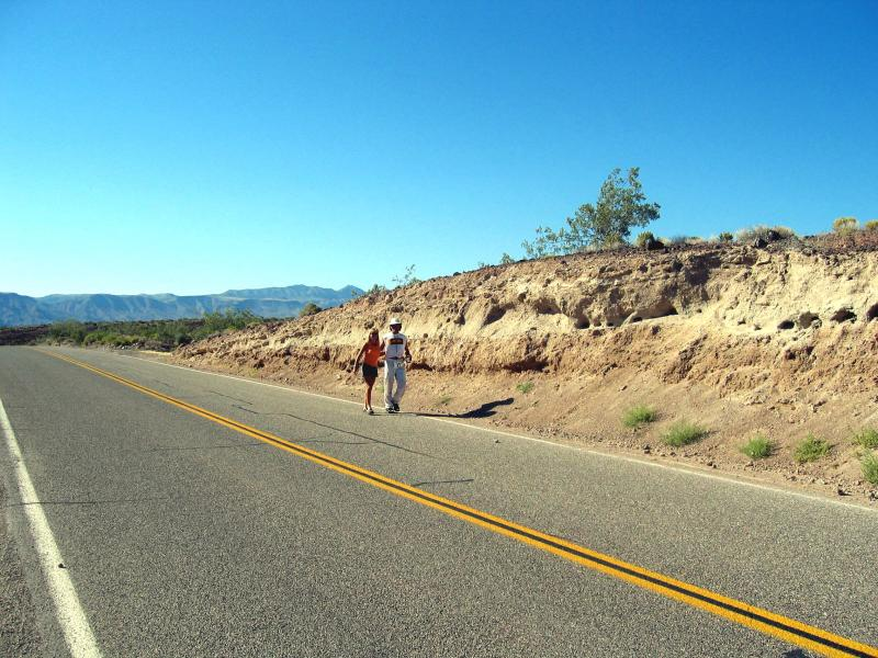 Marshall Ulrich on the way to his 13th Badwater finish