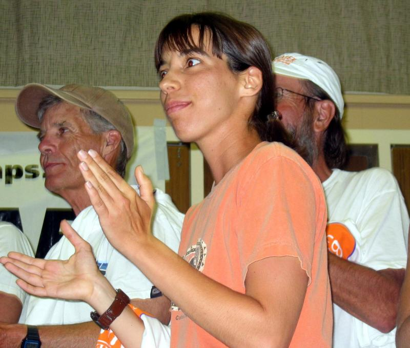 Judit Pallos, 2005s youngest Badwater entrant, finished 3rd place female in 39:33.
