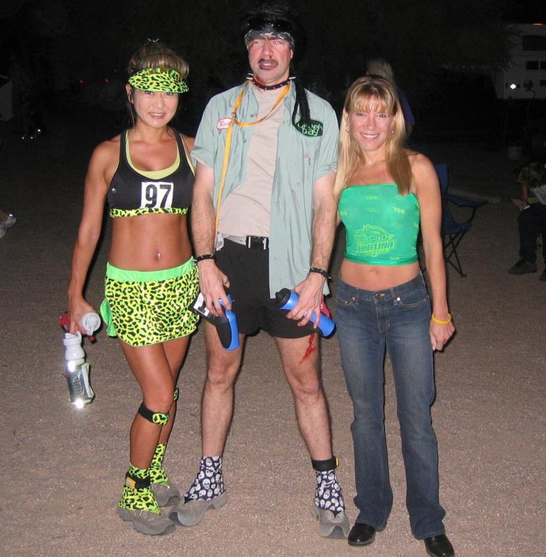 Xy, David & Lisa before the start