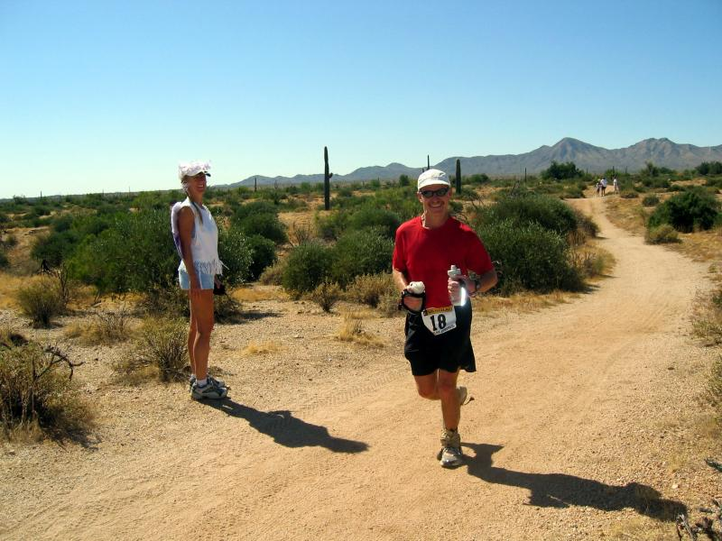 Runners coming back to the Javelina Jeadquarters after loop 2