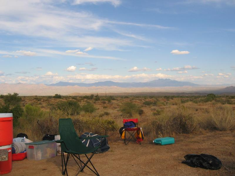 view from Coyote Camp