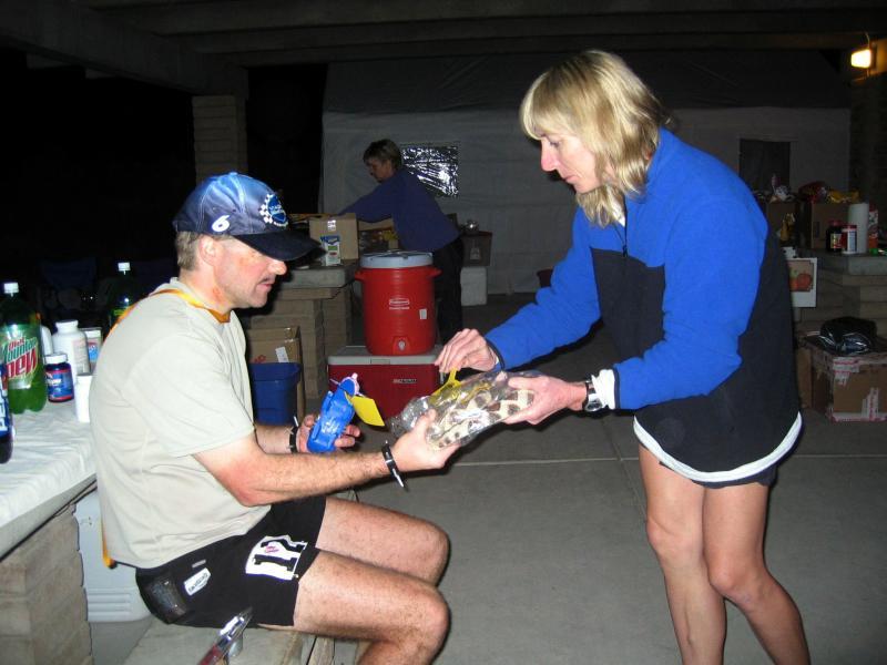 Geri gives David his finishers award, 7th place award and....