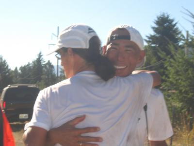 Tony & pacer Glenn at the finish