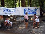 Jurek's crew hangs at the finish line to cheer in the runners while Scott summits Mt. Whitney