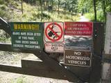 entrance to the Liberty Lake trail