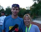 Davd and I at the finish