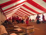 2005 Chicago Marathon finish line medical tent...before the madness